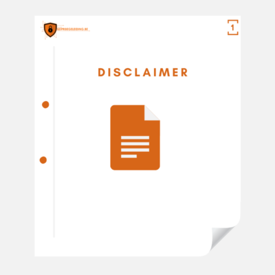 Disclaimer voor website